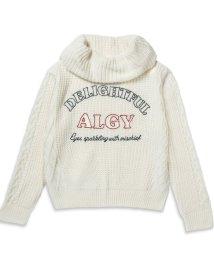 ALGY/ロゴ刺繍オフタートルニット/500625912