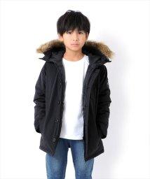GLAZOS/ワッペン付ミドル丈・厚中綿ダウンジャケット/500627875