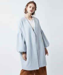 titivate/シャギーボリューム袖コート/500629149
