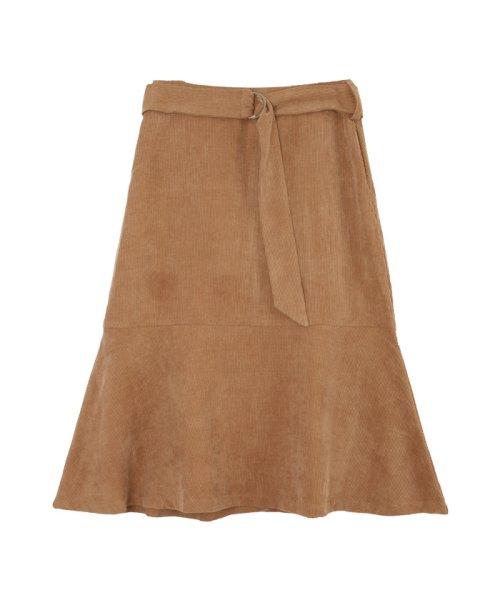 ur's(ユアーズ)/ベルト付裾フレアコーデュロイスカート/BQXU0273