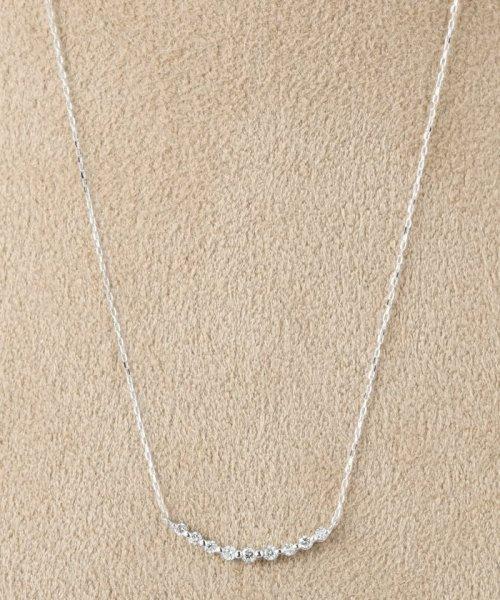 DECOUVERTE(デクーヴェルト)/18KWG 0.1ct ダイヤモンド ネックレス/17110895503530
