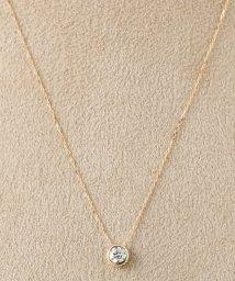 DECOUVERTE/18KYG 0.2ct ダイヤモンド Fネックレス/500629437