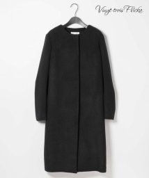 NIJYUSANKU/【Vingt-trois Flicka】ノーカラー コート/500630362