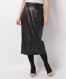 LANVIN en Bleu/ロイヤルレザータイトスカート/LB0004589