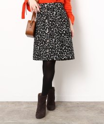 ROPE' mademoiselle/フロントボタンレオパードスカート/500625803