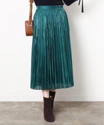 ROPE' mademoiselle/シャイニーサテンプリーツスカート/500629205