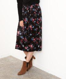 ROPE' mademoiselle/フラワープリントベロアギャザースカート/500633736