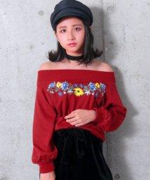 ANAP GiRL/花刺繍オフショルトップス/500616433