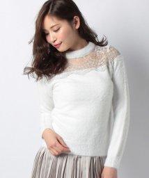 Noela/刺繍チュール切替ニット/500636219