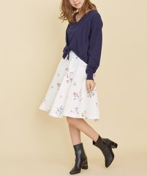 Noela/オリジナルミニブーケ柄スカート/500636220