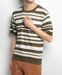URBAN RESEARCH/【SonnyLabel】麻混マルチボーダー半袖ニット/500612463
