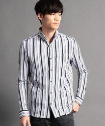 HIDEAWAYS NICOLE/ストライプ長袖カットシャツ/500633623