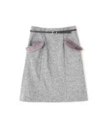PROPORTION BODY DRESSING/【美人百花 12月号掲載】ベルト付きファーポケットスカート/500597355