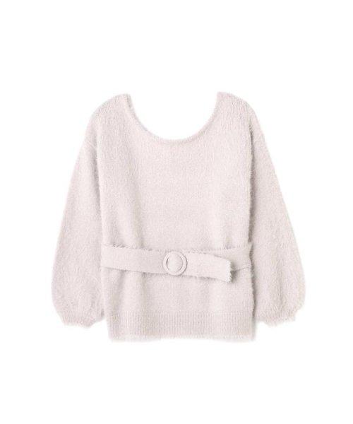 PROPORTION BODY DRESSING(プロポーション ボディドレッシング)/《EDIT COLOGNE》ベルト付フェザーニット/1217275100