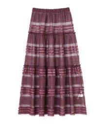 PROPORTION BODY DRESSING/《EDIT COLOGNE》スパンコールティアードスカート/500640950