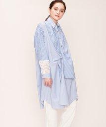 LANVIN en Bleu/【予約商品】ストライプシャツワンピース/LB0004598