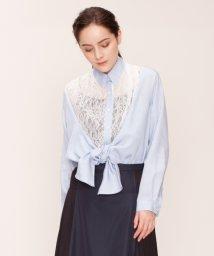LANVIN en Bleu/【予約商品】ダンガリーレースブラウス/LB0004599