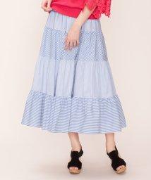 LANVIN en Bleu/【予約商品】ストライプティアードスカート/LB0004601