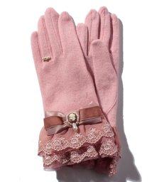 axes femme/カメオ付リボンフリル手袋/500629807