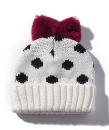 petit main/BABY総柄リボンニット帽/500633069