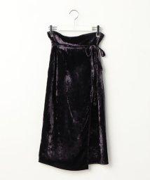 Ravissant Laviere/クラッシュベルベットスカート/500635575