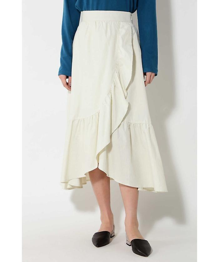 ROSE BUD ラッフルフリルラップスカート