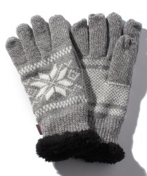 JNSJNM/【EDWIN】雪柄ニット手袋/500631935