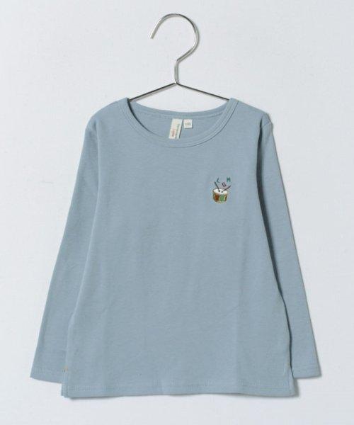LAGOM(ラーゴム)/スムース刺繍カットソー/1206174421411