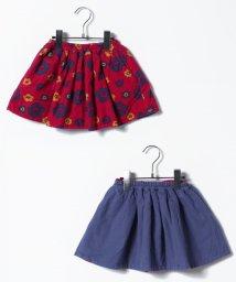 LAGOM/綿起毛花柄リバーシブルスカート/500633970