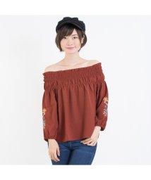 SpRay/袖刺繍5分袖オフショル/500648577