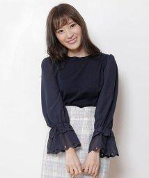 Rirandture/袖シフォンスカラ刺繍ニット/500649933