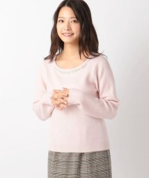 MISCH MASCH/丸首刺繍ふわふわニット/500366857