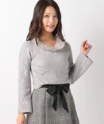 MISCH MASCH/衿ファー袖刺繍ニット/500544156