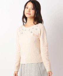 MISCH MASCH/モールお花刺繍ニット/500601105