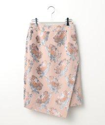 Ravissant Laviere/フラワーパイルジャガードタイトスカート/500645134