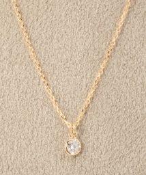 DECOUVERTE/18KYG 0.1ct ダイヤモンド Fネックレス/500653109