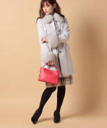 Piccola Donna/【Minskatt】ビーバーブローチ付きコート/500648178