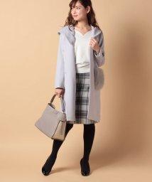 Piccola Donna/【Minskatt】ポンテトルトポケットファー付きコート/500648183