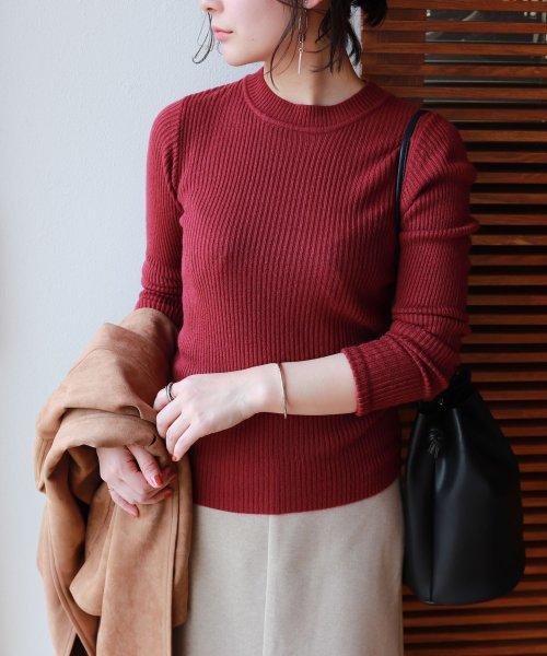 and Me...(アンドミー)/【G-2】ハイネック リブニット トップス 長袖 セーター/6000242