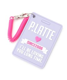 PINK-latte/ラバーロゴパスケース/500655413