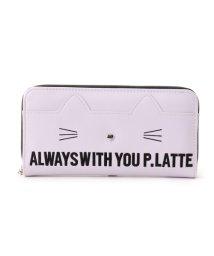 PINK-latte/ネコ長財布/500655422
