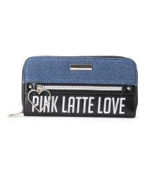 PINK-latte/ハートフープアウトポケットファスナー長財布/500655428