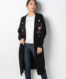 AZUL by moussy/刺繍ニットロングトッパーカーディガン/500648518