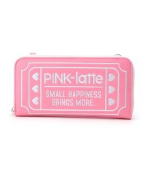 PINK-latte/チケット柄長財布/500658240