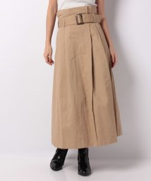 NICE CLAUP OUTLET/【natural couture】ハイウエストラップ風スカート/500642351