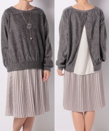 NICE CLAUP OUTLET/【natural couture】ネックレス付きふわかるプルオーバー/500642352