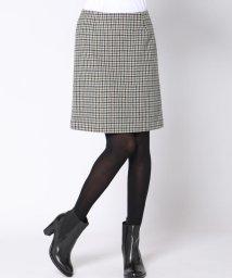 Viaggio Blu/≪大きいサイズ≫ガンクラブチェック台形スカート/500651721