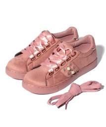 Shoes in Closet/レースアップ パールスニーカー/500652058