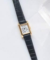 LYDEW/gold lafayetteウォッチ(ブラックレザークロコ型押し)/500650675