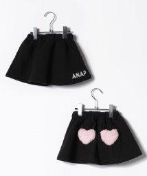 ANAP KIDS/ハートボアポケット付きニット柄スカート/500656859